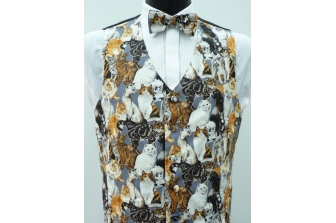 All Over Cats Waistcoat