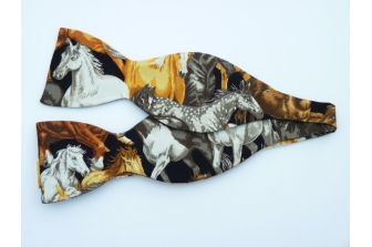 All Over Horses Self Tie Bow Tie