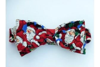 All Over Santa's (Blue) Pre Tied Bow Tie