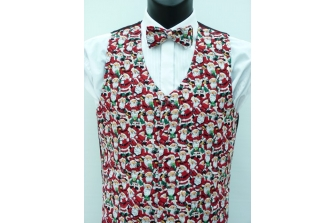 All Over Santa's (Green) Waistcoat