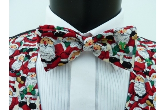 All Over Santa's (Green) Pre Tied Bow Tie