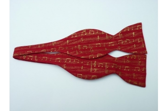 Christmas Music Self Tie Bow Tie