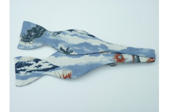Mount Fuji Dragon Self Tie Bow Tie