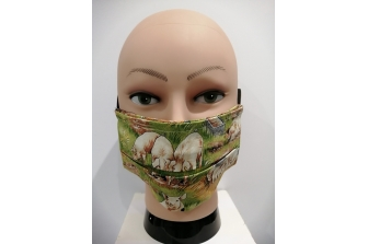 Farmyard Pigs Face Mask