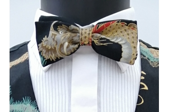 Dragons and Cranes Pre Tied Bow Tie