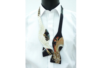 Dragons and Cranes Self Tie Bow Tie
