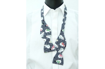 Cheeky Snowmen Self Tie Bow Tie