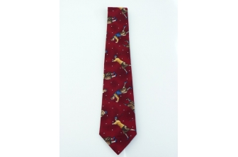 Burgundy Golf Necktie