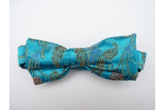 Aqua Chinese Pre Tied Bow Tie