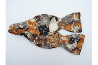 All Over Cats Self Tie Bow Tie