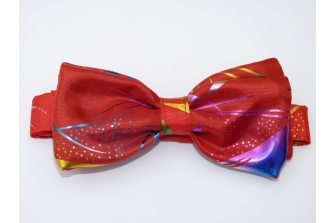 Red Kaleidoscope Pre Tied Bow Tie