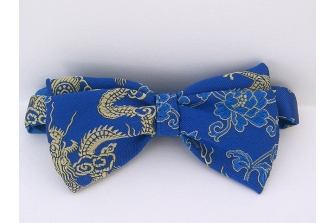 Royal/Gold Dragon Pre Tied Bow Tie