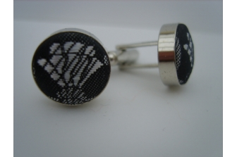 Silver Thistle Cuff Links