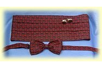 Red Salisbury Cummerbund Set