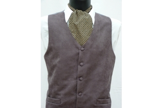 Charcoal Suede Waistcoat