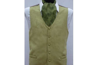 Olive Suede Waistcoat