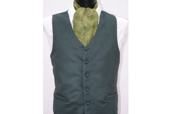 Forest Green Suede Waistcoat