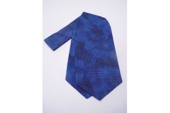 Blue Shimmer Self Tie Day Cravat