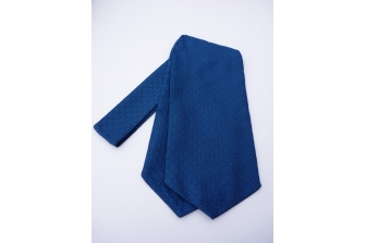 Blue/Black Self Tie Day Cravat