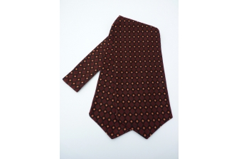 Burgundy/Gold/Black Self Tie Day Cravat