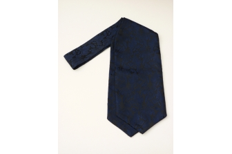 Black/Blue Leaf Self Tie Day Cravat