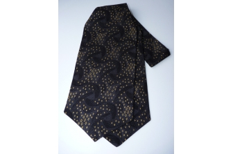 Classic Black/Gold Self Tie Day Cravat