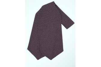 Burgundy Pin Spot Self Tie Day Cravat