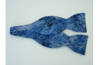 Blue Riverbank Self Tie Bow Tie