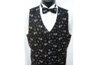 All Over Music Notes Waistcoat