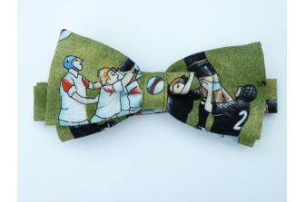 Rugby (line out) Pre Tied Bow Tie