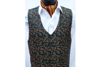 Orange/Green Willow Waistcoat