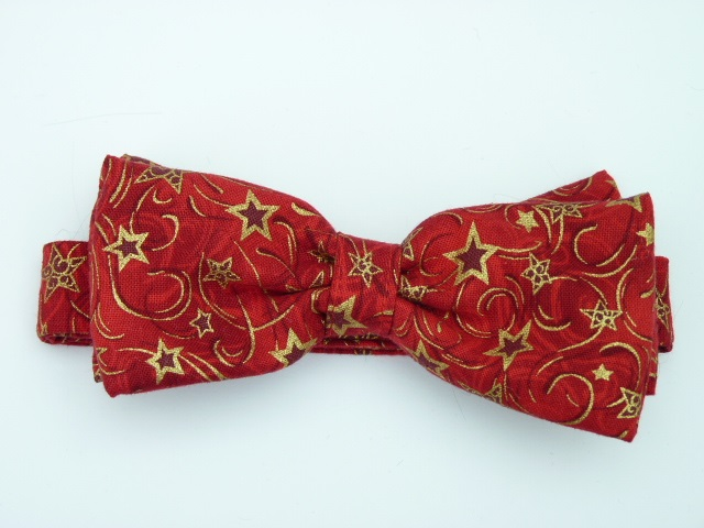 Red Stars Pre Tied Bow Tie