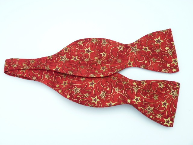 Red Stars Self Tie Bow Tie