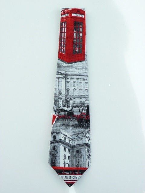 London with Telephone Box Necktie