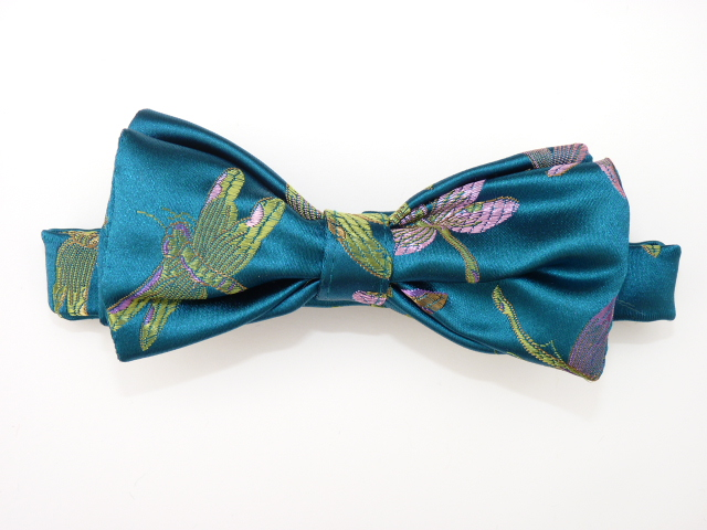 Teal Dragonfly Pre Tied Bow Tie