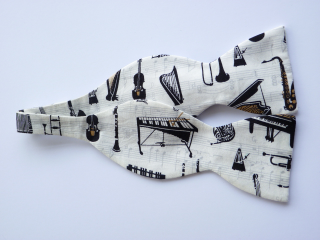 Musical Instruments Self Tie Bow Tie