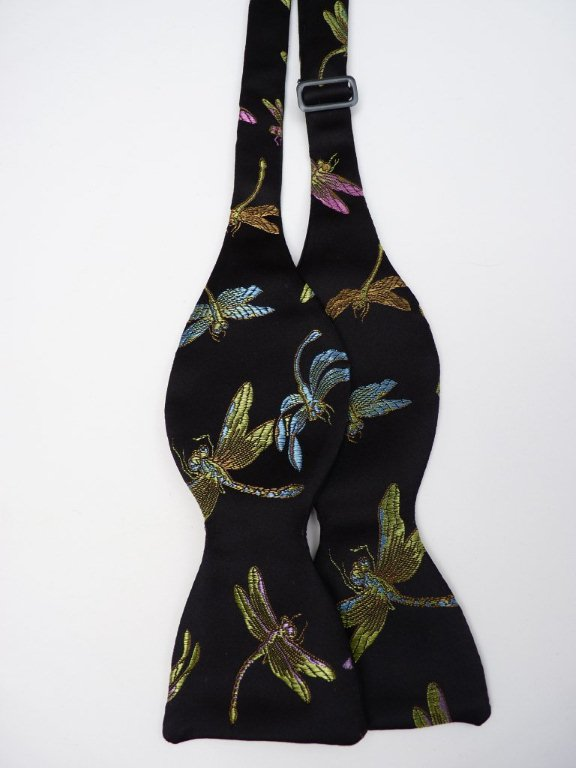 Multi Dragonfly Self Tie Bow Tie