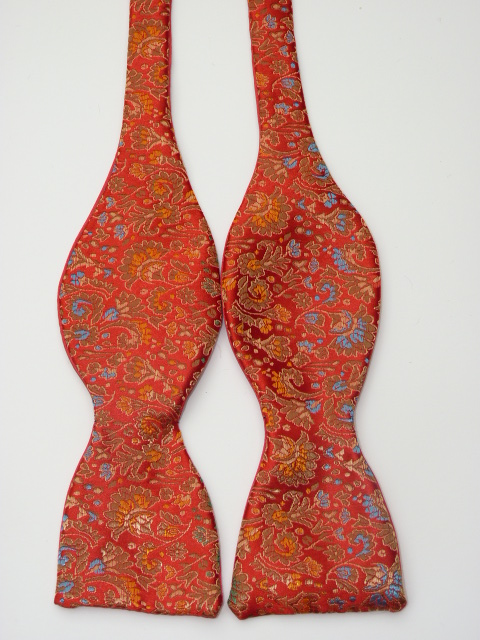Red Multi Self Tie Bow Tie