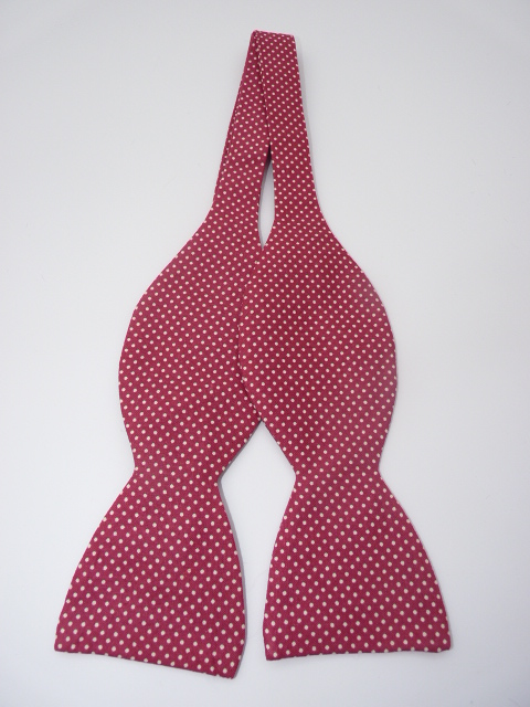 Hot Pink Dizzy Dots Self Tie Bow Tie