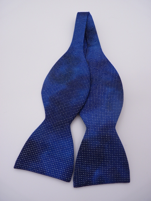 Blue Shimmer Self Tie Bow Tie