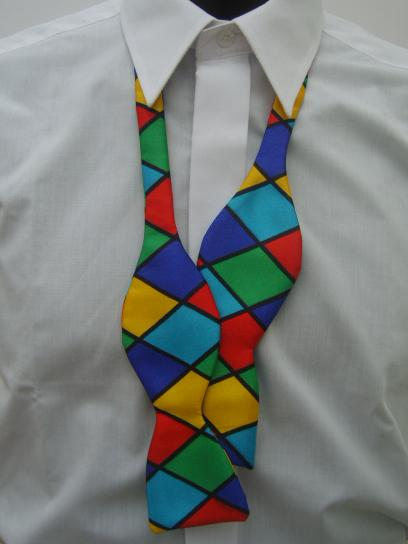 Circus Harlequin Self Tie Bow Tie