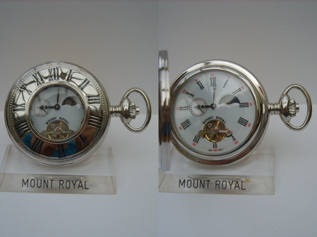 Chromium Sun/Moon Dial Half Hunter Pocketwatch