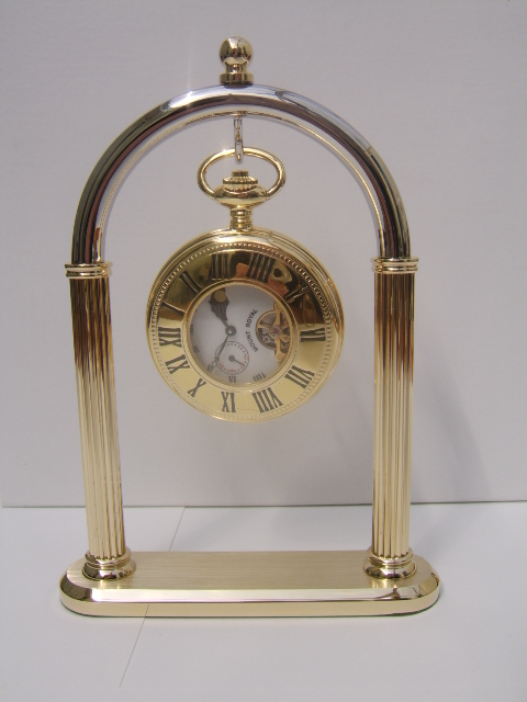 Gold Plate and Chromium Pocketwatch Stand