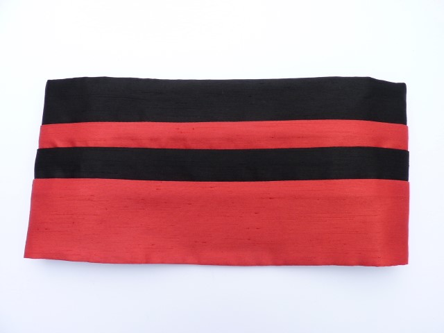 Black/Red Cummerbund