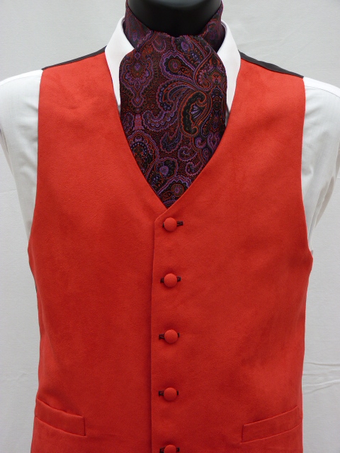 Red Suede Waistcoat