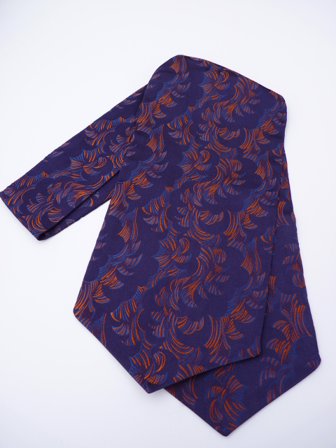 Purple/Orange/Blue Self Tie Day Cravat
