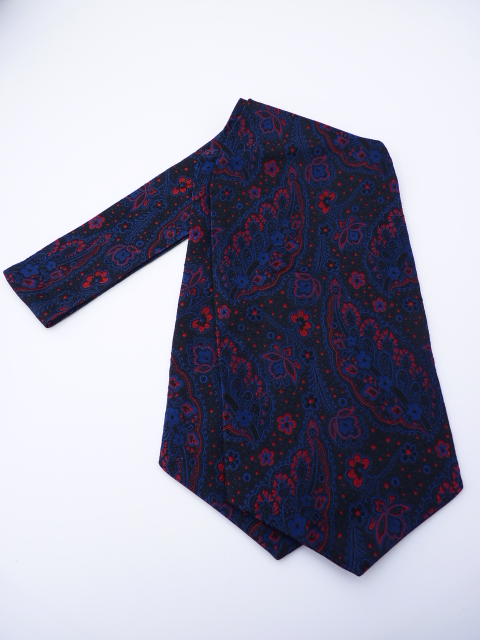 Blue/Red Paisley Self Tie Day Cravat