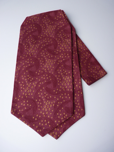 Classic Burgundy/Gold Self Tie Day Cravat
