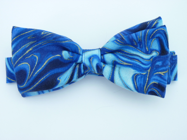 Blue Marble Pre Tied Bow Tie