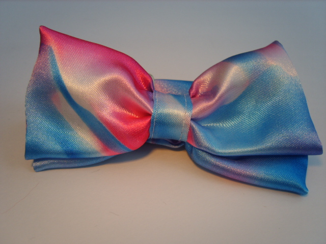 Pink/Blue Camouflage Satin Pre Tied Bow Tie